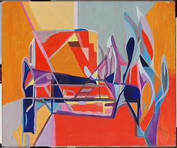"""484. Siri Rathsman, """"Studie i rött och blått""""."""