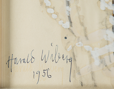 Harald wiberg, watercolour, signed and dated 1956.