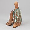 Lisa larson, a stoneware sculpture, unik, signed and dated -97.
