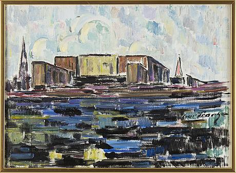 Ivar franke, signed. oil on canvas 54 x 74 cm.