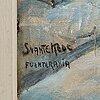 Svante kede, signed. oil on canvas 52 x 43 cm.