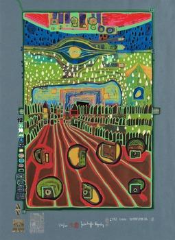 """416. Friedensreich Hundertwasser, """"Look at it on a rainy day (The Regentag Portfolio)""""."""