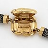Ole lynggaard, silver, clasp in the shape of a beetle, 18k gold with two brilliant-cut diamonds.