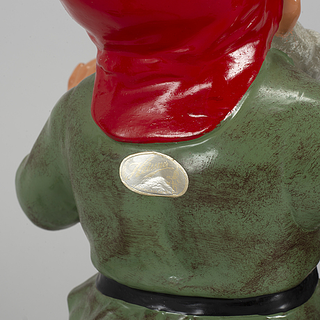 A 20th century painted gnome from heissner.