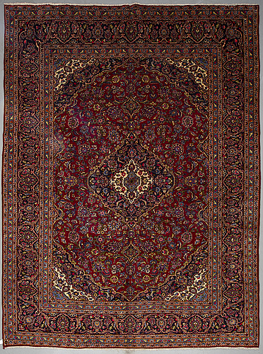 A carpet, kashan, ca 392 x 298.