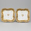 A pair of french porcelain bowls, mid 19th century.