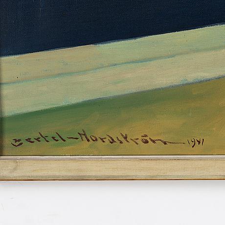 Bertel bertel-nordström, oil on canvas, signed and dated 1941.