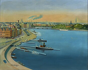 Sven-Erik Jansson, oil on canvas, signed and dated 1963.