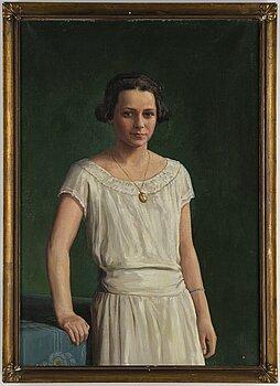 JOHAN KROUTHÉN, olja på duk, signerad och daterad 1924.