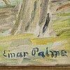 Einar palme, oil on canvas, signed.