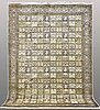 A kashmir silk on cotton carpet, ca 304 x 215 cm.