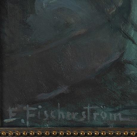 Edit fischerström, oil on canvas, signed.