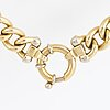 18k gold curb link necklace.