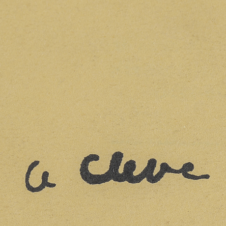 Agnes cleve, mixed media. signed with stamp.