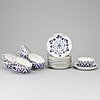Ten russian porcelain teacups and saucers, late 19th century.