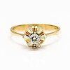 A 18k gold ring with a diamond ca. 0.25 ct.