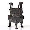 A bronze tripod censer, qing dynasty, 17th/18th century.