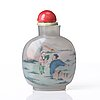 A inside painted snuff bottle with stopper, china, circa 1900.