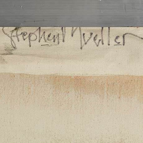 Stephen mueller, acrylic, signed and dated 10982 verso.