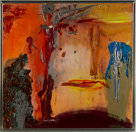 Stephen mueller, acrylic on canvas, signed and dated 1986 verso.