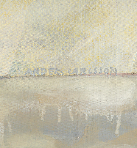 Anders carlsson, olil on canvas, signed.