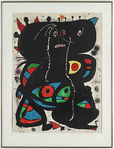 Joan mirÓ, colour lithographe, signed and numbered 60/100.