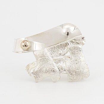 A Rolf Karlsson sterling silver ring.