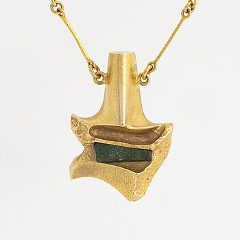 A Björn Weckström for Lapponia pendant in 18K gold set with zoisite.