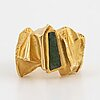 "An 18k lapponia ring set with zoisite ""pagodi""."