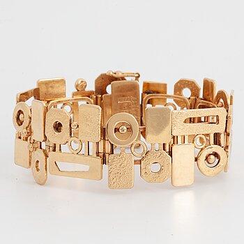 A Swedish 18 ct gold bracelet design Robbert, Trosa, 1972.