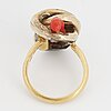 Coral ring.