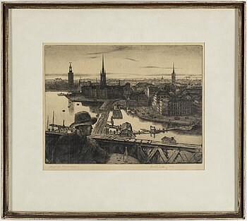 HARALD SALLBERG, etching, 1952, signed.