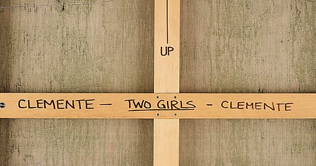 "Francesco clemente, ""two girls""."