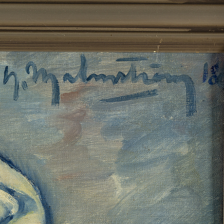Henning malmström, oil on canvas, signed and dated -18.