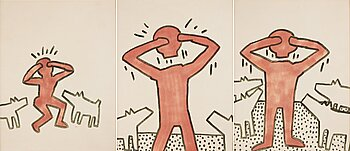 61. Keith Haring, Untitled (Triptych).