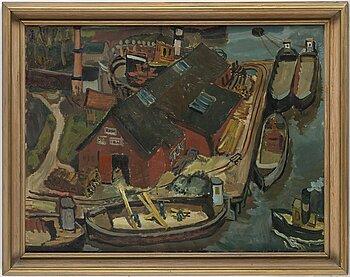 MAGNUS CREUTZ, oil on canvas, signed verso.