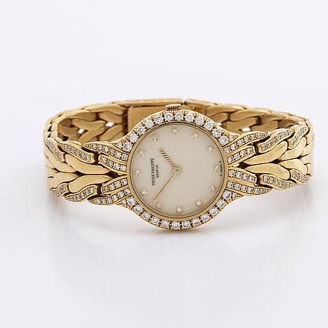 Patek philippe, 'la flamme', wristwatch, 23 mm.