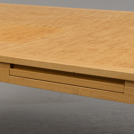 A birch and beech veneered desk from rydens interiör ab, 1992.
