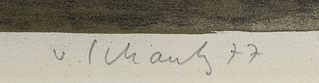 Philip von schantz, color lithgraph, signerad 77, 91/140.