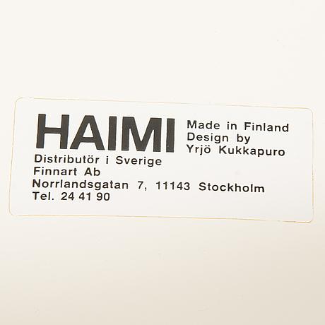 YrjÖ kukkapuro, a 1970's six-piece furniture suite for haimi, finland.