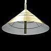 Hans-agne jakobsson, a brass model t921 ceiling light from markaryd.