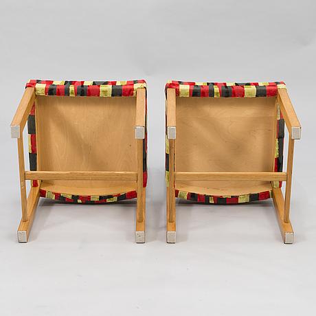 Carl gustaf hiort af ornÄs, tuoleja, 6 kpl, huonekalu mikko nupponen oy, 1900-luvun puoliväli.