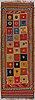 A carpet, a kilim, a semi-antique qashqai, ca ca 298-303,5 x 105-110,5 cm.