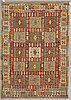 A carpet, kilim 243 x 173 cm.
