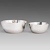 Tapio wirkkala, two silver bowls, marked tw, kultakeskus oy, hämeenlinna finland 1975 and 1984.