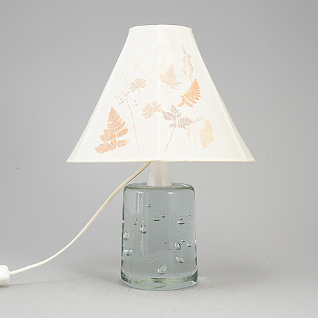 A swedish modern glass table lamp, mid 20th century.