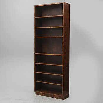 A  1930's stained birch bookshelf.