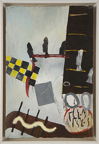 Pontus carle, oil on panel laid on canvas, signed and dated -96.
