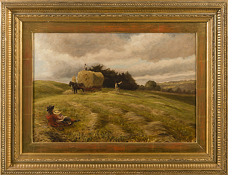 Fredrik ahlstedt, oil on canvas, signed.