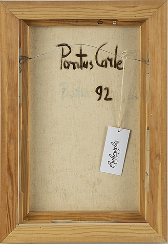 Pontus carle, oil on canvas, signed and dated -92.